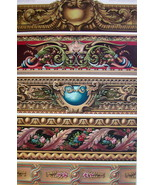 BAROQUE Century Tapestry Fragments Silk Gold- A. RACINET Color Litho Print - $25.20