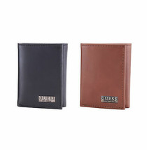 New Guess Logo Men's Credit Card ID Genuine Leather Trifold Wallet 31GU110011