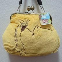 Disney Character Winnie The Pooh Gamaguchi Pochette Shoulder Bag Fur Yellow - $56.43
