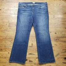 Tommy Hilfiger Womens Sz 42 x 31 Blue Jeans Classic Mid Rise Hope Bootcu... - $30.63
