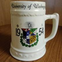 Vintage University of Washington 1954 SHIRL  Nassau China Trenton N.J. Beer Stei image 1
