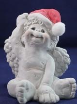 "Cast Art Dreamsicle Cherub Santa Hat 4"" - $5.99"