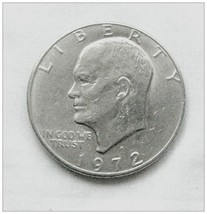 Eisenhower Circulated 1972 Dollar - Denver - £5.00 GBP