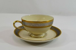 Rosenthal Teacup & Saucer Set Duches Pattern Gold Silver Gilt Midcentury - $24.00