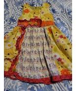 JELLY THE PUG GIRLS ORANGE AND yellow sleeveless DRESS  SZ 4T - $12.19