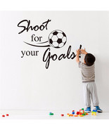 Beautiful Design Removable Football Soccer Ball Letter Wall Stickers Art... - $4.38