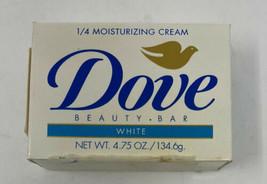 1996 Vintage Dove Soap White 4.75 oz 1/4 Moisture Lotion Sealed - As Is - $8.61