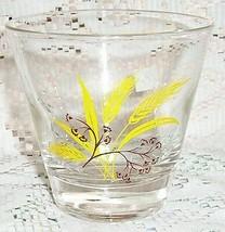 2 CENTURY ALLIANCE AUTUMN GOLD WHEAT GLASS ROCK S TUMBLER 8 OZ RARE - $14.84