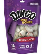 Dingo 95014 Mini Bones, Rawhide For Small/Toy Dogs, Red,14-Ct. 09/07/21 - $8.81