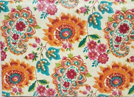 "FLANNEL BACK VINYL TABLECLOTH 52""x104"" (8-10 ppl) COLORFUL FLOWERS &  PA... - $17.81"