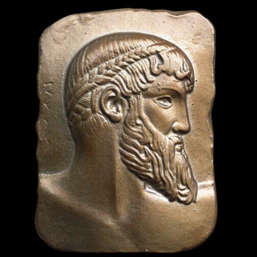 Primary image for Zeus Poseidon of Artemision plaque in Bronze Finish Replica Reproduction