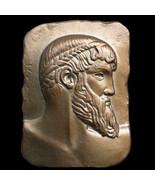 Zeus Poseidon of Artemision plaque in Bronze Finish Replica Reproduction - $19.79