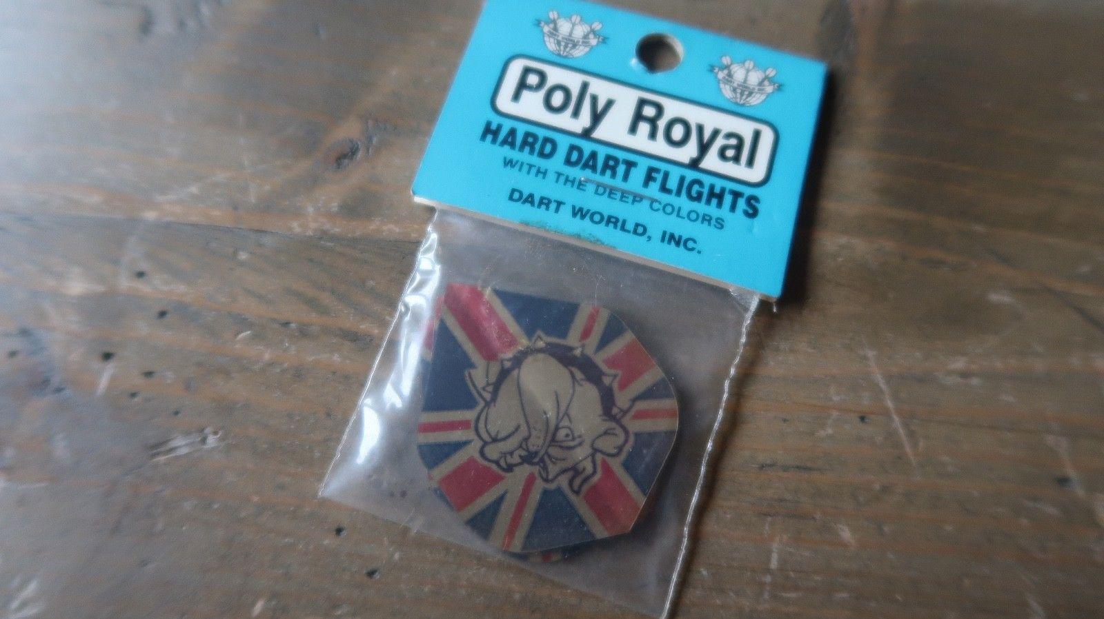3 NEW Vintage Dart Flights ENGLISH BULLDOG