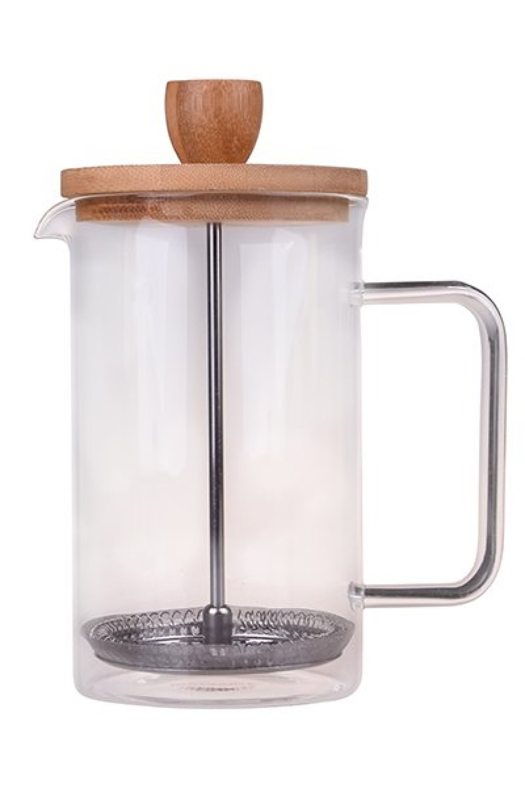 Devin's Bistro French Press Coffee Plunger - Bamboo Boho Design 350 ml and 600 m