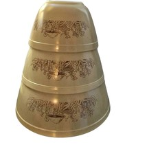 PYREX Forest Fancies Mushroom Mixing Nesting Bowls # 401 402 403 - $79.19