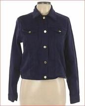 new MICHAEL KORS women jean denim jacket QS01B3D94L navy sz S $120 - $49.49