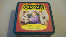 Crayola Crayons Decorative 1994 Metal Tin, empty, Childhood Memories - $14.85