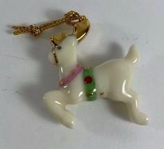 Lenox Miniature Jeweled Christmas Ornament For Family Advent Tree REINDEER - $14.84