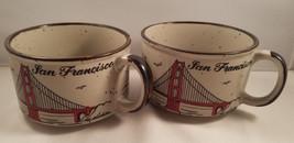 MICO Japan Lot of 2 San Francisco Golden Gate Bridge Cappuccino Style Mu... - $16.82