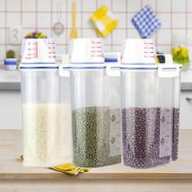 2KG Food Grain Cereals Bean Rice Plastic Storag... - $6.99