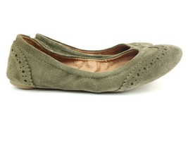 Lucky Brand Edie Leather Green Suede Ballet Wing Tip Flats Sz 6.5 M - $23.96