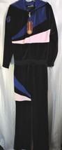 NWT Vintage 80's Regal Wear Velour Jumpsuit Womens XL Black Blue Hip Hop... - $118.75