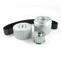 Chevy Small Block SBC Long Water Pump Gilmer Style Pulley Kit (SILVER) - $129.99