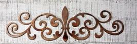 "Ornamental Fleur de Lis Scroll Copper/Bronze Metal Accent 15 1/2"" x 4 3/4"" - $18.80"