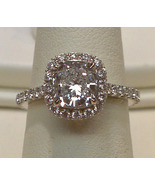 Big cushion diamond 5 carat halo setting ring s... - $12,400.00