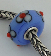Authentic Trollbeads Ooak Murano Glass Unique Bead Charm #120, 15mm Diameter New - $33.24
