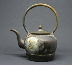 Antique Chinese Metal Teapot ~ 5 inches tall ~ - $49.49