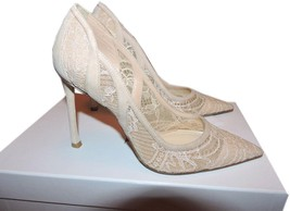 Christian Dior Lingerie Lace Pointed Toe Pumps Shoes  36.5 - 6 Nude - $355.00
