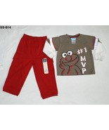 Sesame Street Elmo Shirt and Sonoma Cargo Pants Size 24 mo.   - $14.99