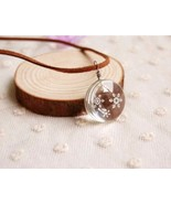 Cool Transparent Snowflake Double-faced Acrylic Pendant Necklace - $9.99