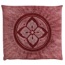 Zabuton Japanese floor cushion pillow cover Meisen Hana kanoko 55x59cm a... - $29.00