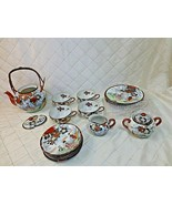 Nippon Tokusei Eggshell Porcelain 21 piece Tea Set Service 1930s Japan - $115.92