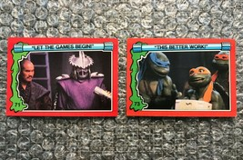 1991 Topps Teenage Mutant Ninja Turtles TMNT II Movie Cards Lot: #71 & #73 - $3.92
