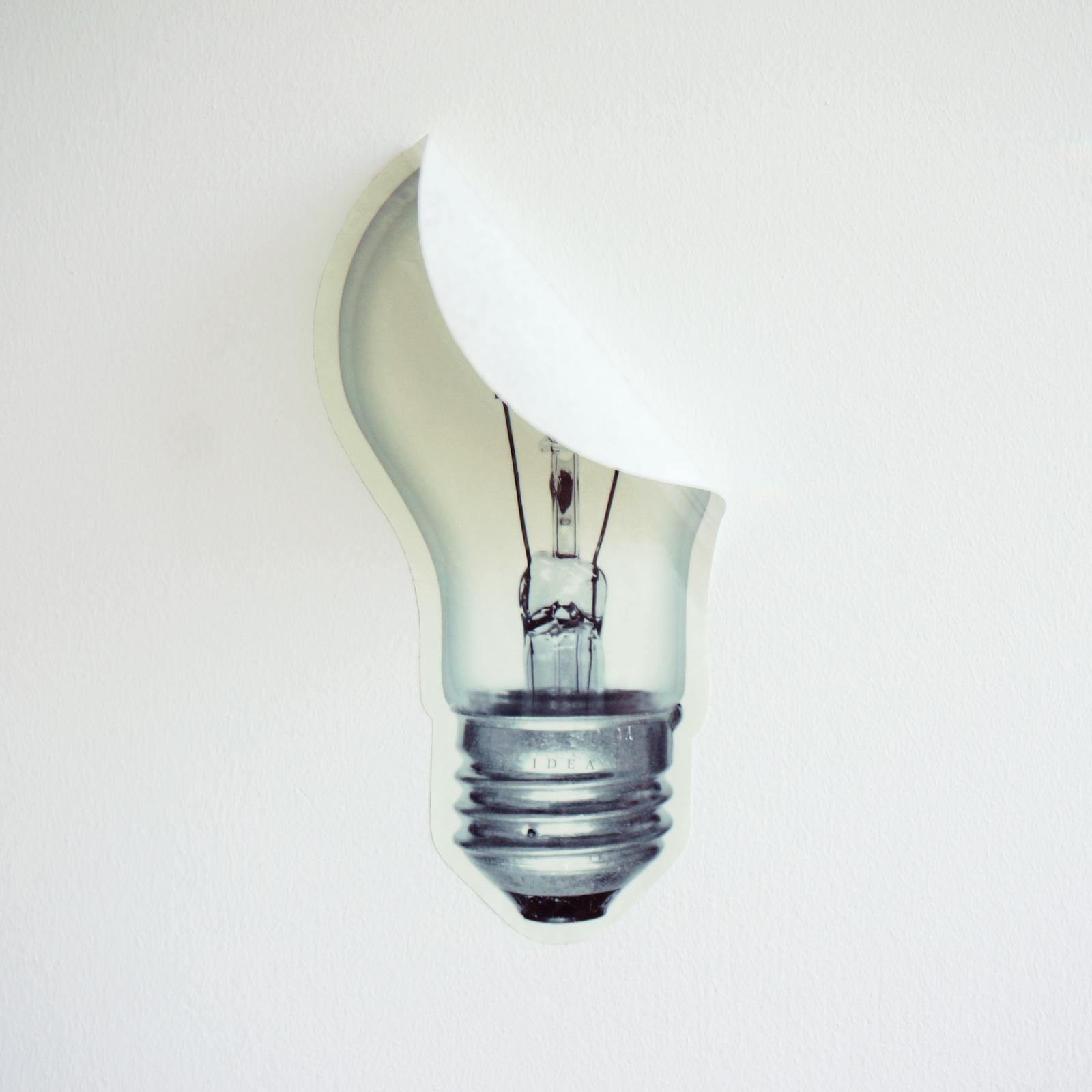 brilliant idea sticker s size glow in the dark light bulb sticker. Black Bedroom Furniture Sets. Home Design Ideas