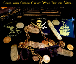TELESCOPE (ENGRAVED) 1800 THREE DRAWER BRASS PIRATE GOLD COINS SHIPWRECK... - $995.00