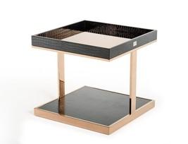 VIG A&X Padua Modern Large Black & Rosegold End Table Contemporary