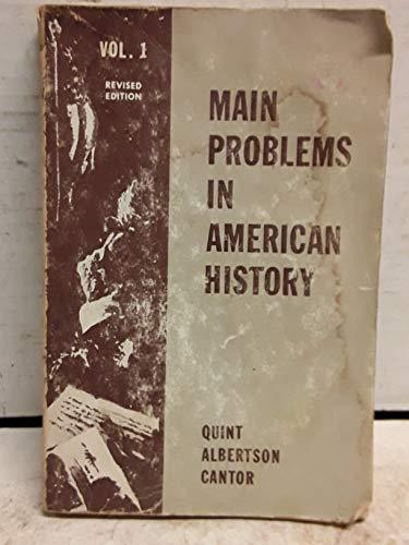 Primary image for Main Problems in American History [Paperback] quint, howard