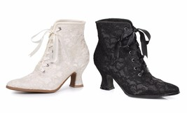 "Ellie 253-Elizabeth Shoes Womens Sexy Costume Fancy 2.5"" Heel With Lace ... - $57.95"