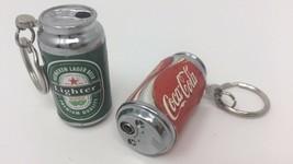 Random Mini Cola/ Beer Lighter Refillable Butane Gas Pocket Keychain - 2 pcs image 2