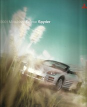 2001 Mitsubishi ECLIPSE SPYDER sales brochure catalog US 01 GS GT - $10.00