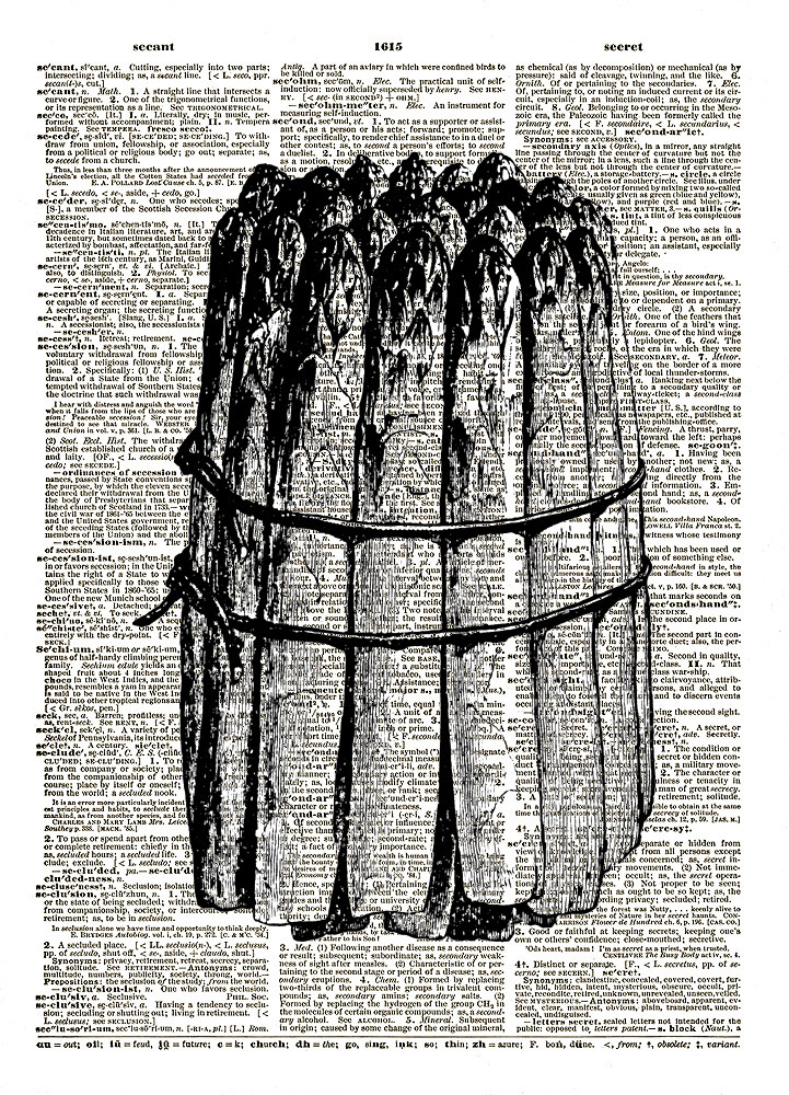 Tied STALKS of ASPARAGUS Vintage Dictionary Page Art Print No. 0120
