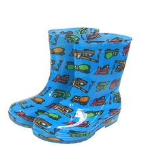 Cute Starry Kids' Rain Boots Blue Car Children Rainy Days Shoes 18CM