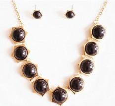 Plain Brief Stylish New Fake Pearl Cluster Jewelry Set(Black ) - $9.99