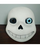 Halloween Head Mask Latex White Undertale Sans Party Game Costume Access... - $29.69