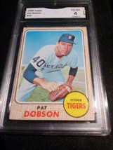 1968 Topps Pat Dobson GMA Graded 4 VG-EX baseball card number 22  - $9.99