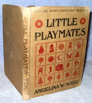 antique childs early reader little playmates 1913 book